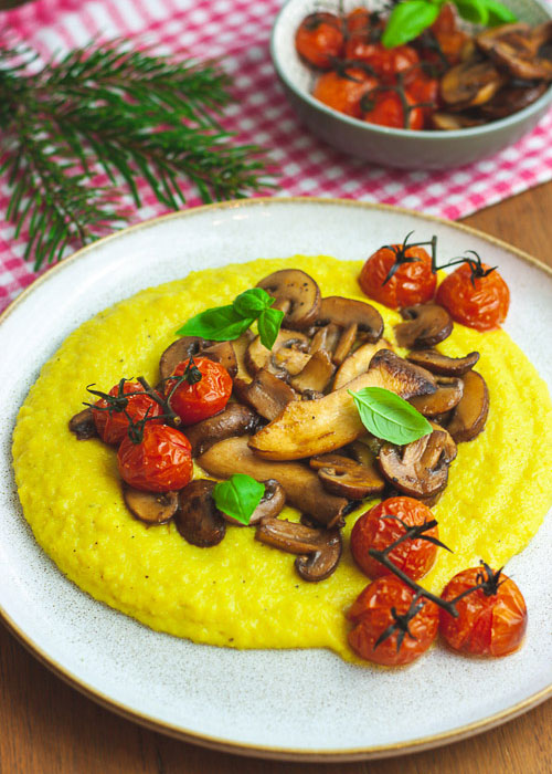 polenta-pilze