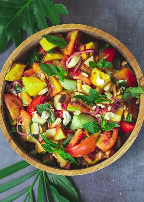 tomatensalat-ananas-chili-minze