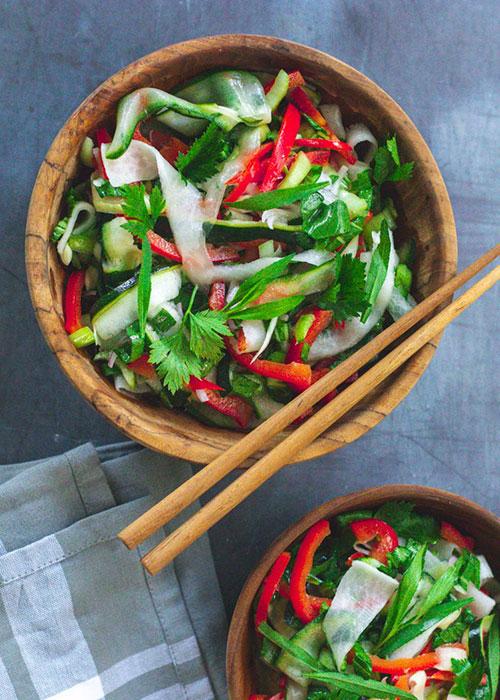 salat-pak-choi-zucchini-rettich-estragon